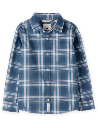 Indigo Check Shirt 2-12 years