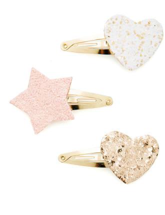 Glitter Shape Clip 3pk