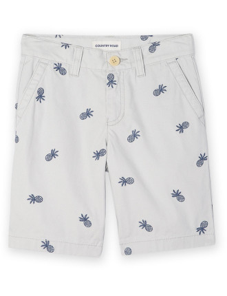 Embroidered Chino Short