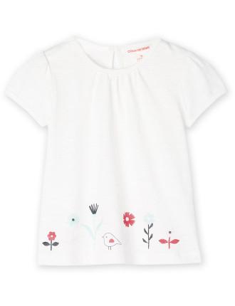 Floral Hem T-Shirt