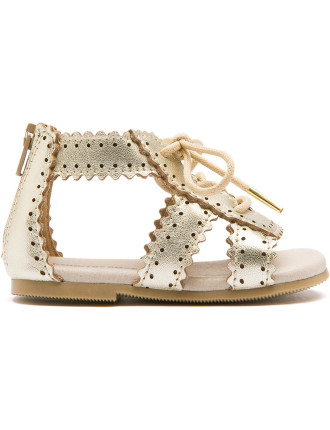 Scallop Lace Up Sandal