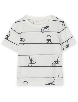 Monkey Stripe T-Shirt 0-24 months