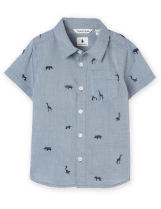 Embroidered Motif Shirt