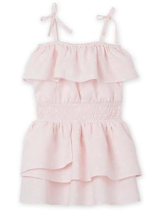 Shoulder Frill Dress