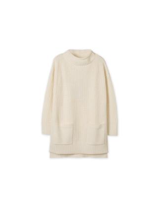 Funnel Neck Knit Dress
