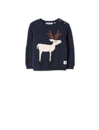 Deer Intarsia Knit