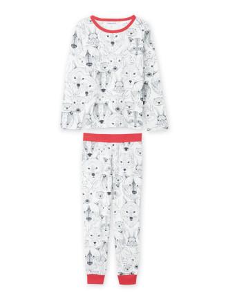 Animal Face Pyjamas