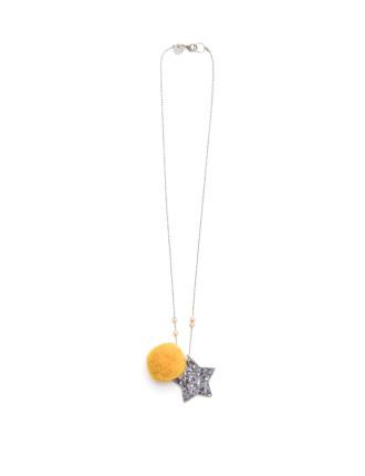 Pom Pom Star Necklace