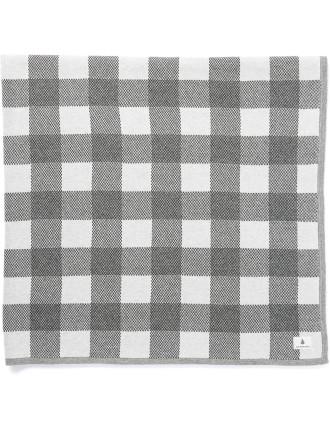 Uni Check Knit Blanket