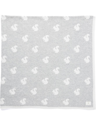 Unisex Squirrel Knit Blanket
