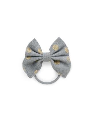 Felt Bow Hair Tie