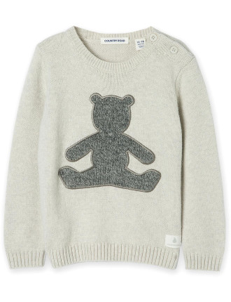 Bear Applique Knit