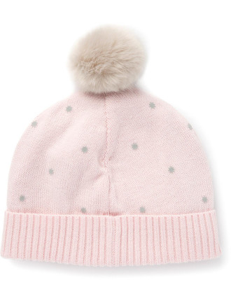 Star Flocked Beanie