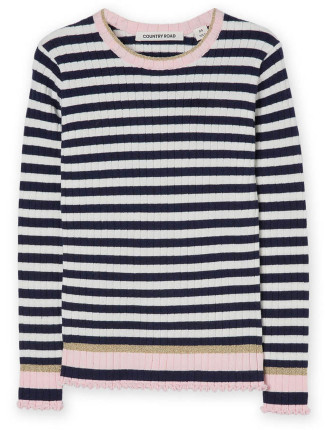Stripe Rib Knit