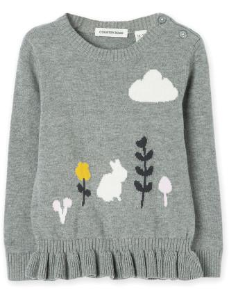 Frill Bunny Knit