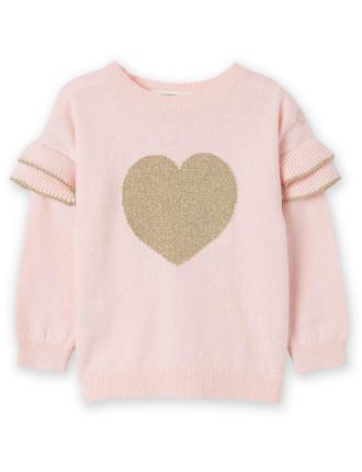 Frill Heart Knit