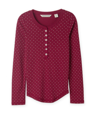 Pin Dot Henley