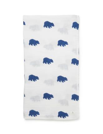 Bear Muslin Wrap
