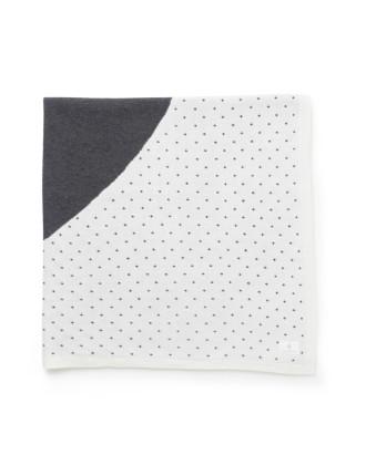 Heart Spot Knit Blanket