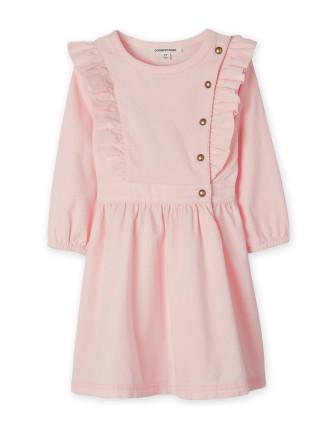 Cord Ruffle Dress