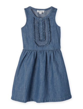 Bib Detail Dress