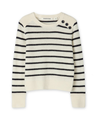 Stripe Button Knit
