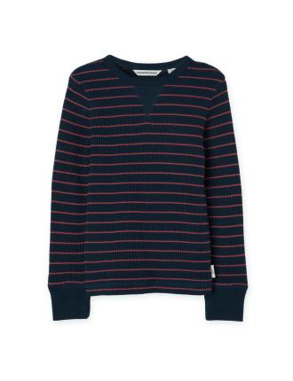 Waffle Stripe T-Shirt
