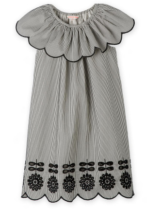 Stripe Broderie Dress