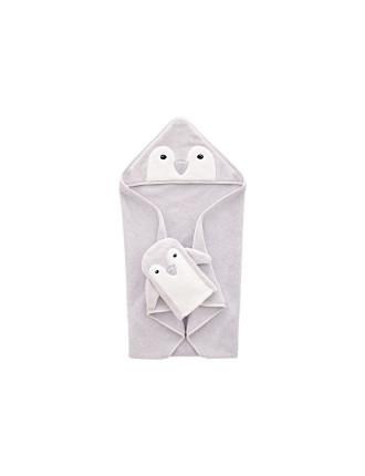 Pipp Novelty Hooded Towel & Mit Set