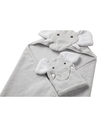 ECHOE HOODED TOWEL & MIT SET