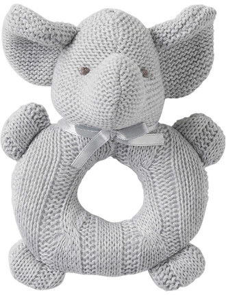 EFFIE ELEPHANT RATTLE TOY