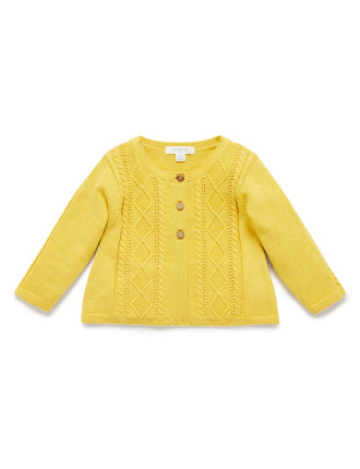 SHORT CABLE CARDIGAN
