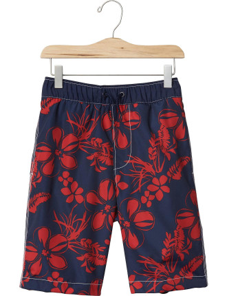 Tropical Floral Swim Trunks