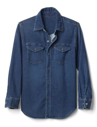 1969 supersoft denim western shirt