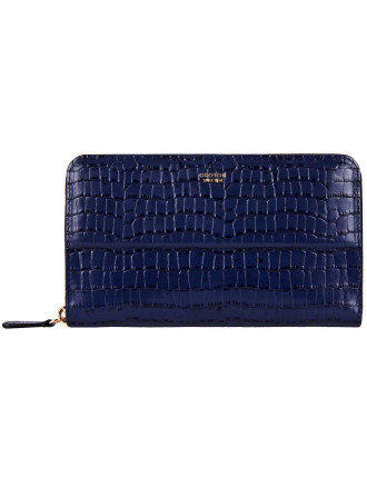 Forte Large Multi Pocket Zip Around Wallet