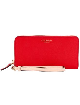Estate Slim Multi Pocket Zip Around Wallet