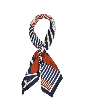 Scenic Stripe Silk Scarf