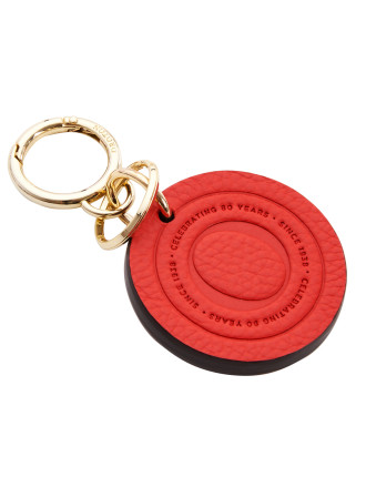 Signet Leather Key Ring