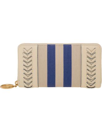 Journey Stitch Zip Around Wallet