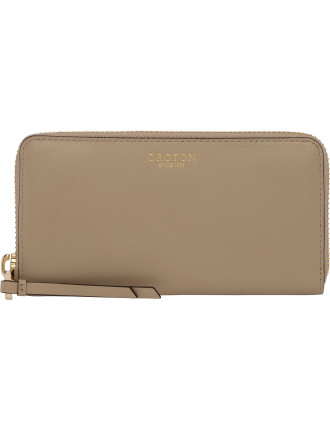 Sausalito Slim Multi Pocket Zip Around Wallet