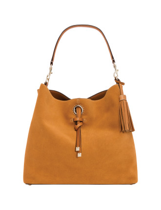 hockney suede  Medium bucket bag