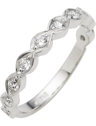 18ct White Gold Diamond Mini Cienega Band