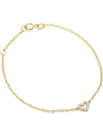 18ct Diamond Mini Heart Bracelet