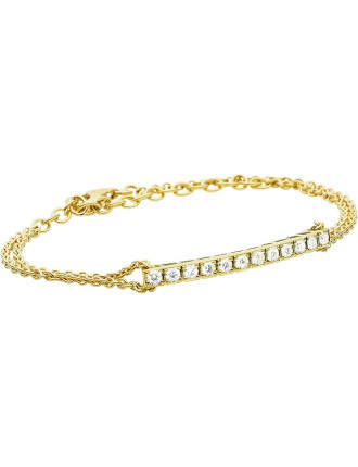 18ct Yellow Gold Diamond Hudson Bracelet