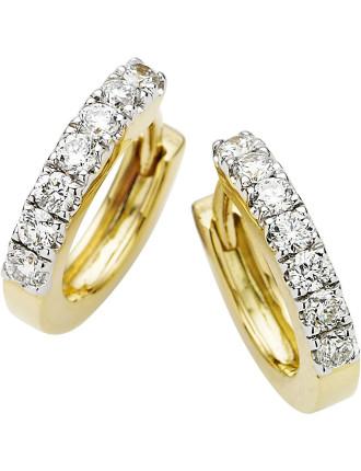 18ct Yellow Gold Diamond Cuff Earrings