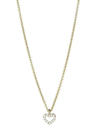 18ct Yellow Gold Diamond Mini Heart Pendant