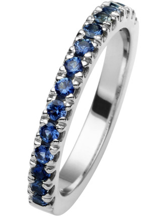 18ct Sapphire Piccadilly Band