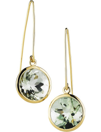 9ct Green Amethyst Alessandria Earrings