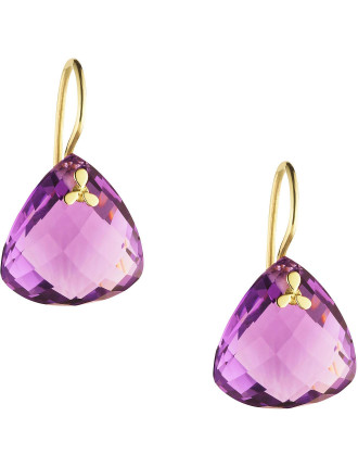 9ct Amethyst Palos Earrings