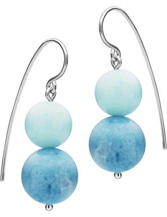 Sterling Silver Blue Jasper Antigua Earrings